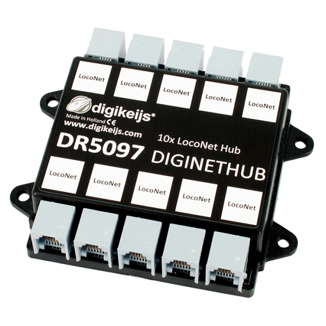 Digikeijs Dr5097 Diginethub 10 Way Loconet Splitter Works With Digitrax Model Trains Toy Train Model Train Layouts