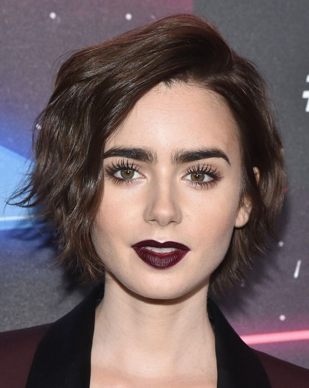 31 Female Celebs With Short Hair That Ll Convince You To Make The Chop Photos Celebrity Makeup Looks Lily Collins Hair Short Hair Styles