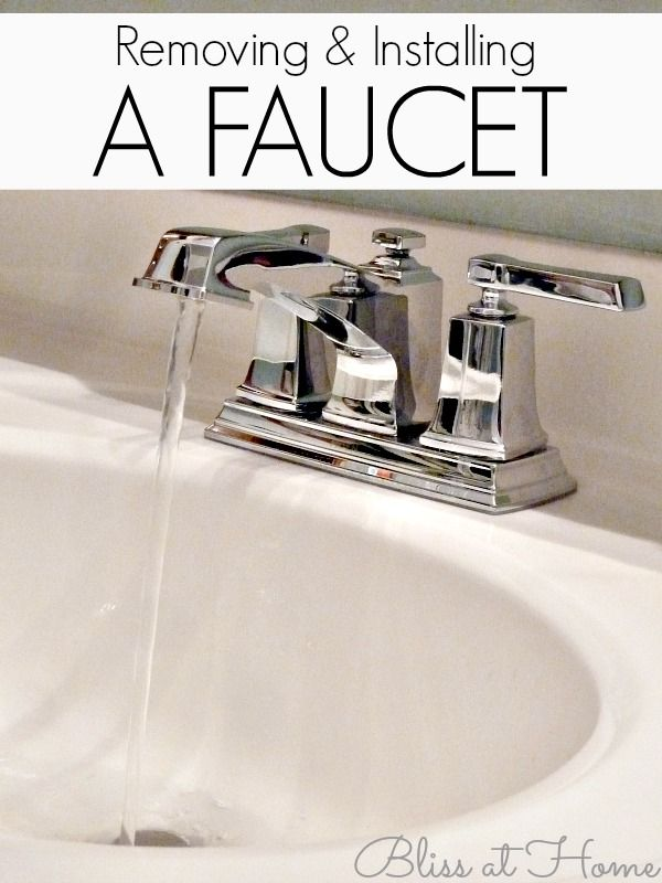 Removing An Old Faucet And Installing A New Bathroom Faucet Handy Woman Home Improvement Diy Home Improvement