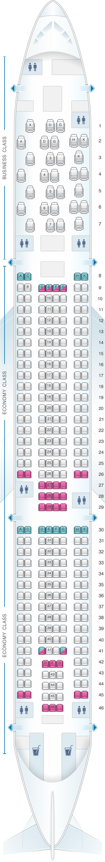 Seat Map Aer Lingus Airbus A330 300   Air transat, China ...
