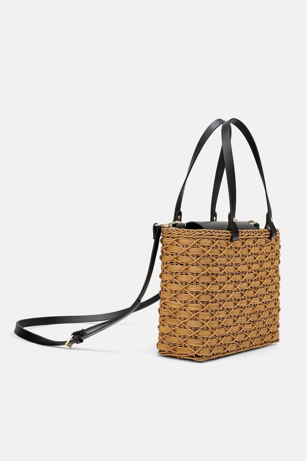 ac1a6c4b0df5 Natural basket bag in 2019 | ♛ Smart Casual ♛ To Buy @ Zara ...