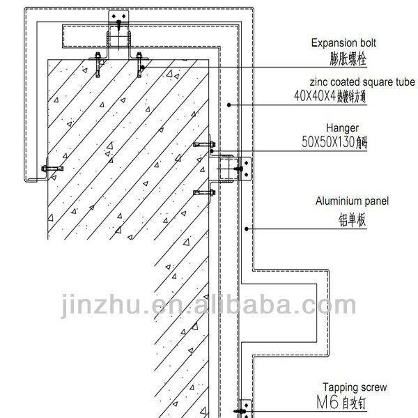Aluminium Column Cladding : Aluminum column cover panel for