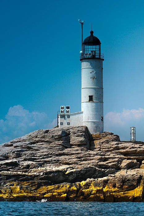 Isles Of Shoals Lighthouse In The Afternoon 1 by Claudia Mottram