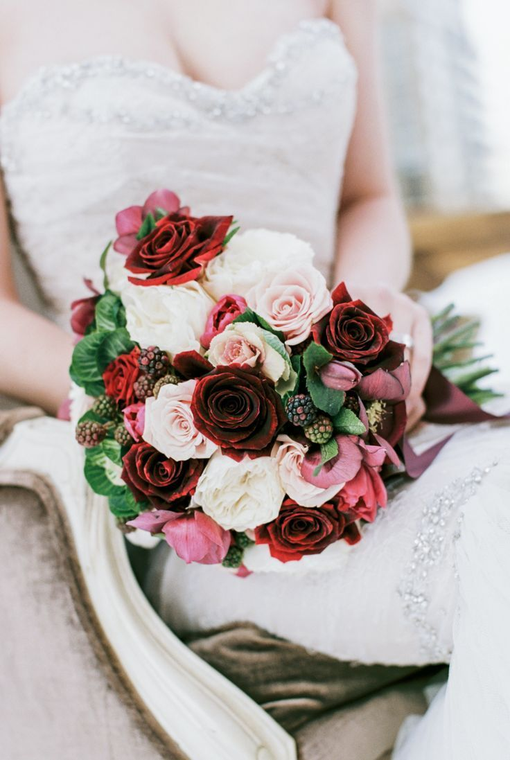 Wedding bouquets red and white roses  Red white and pink rose bouquet  Wedding Bouquets  Pinterest