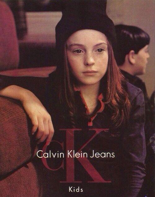 Lindsay Lohan for Calvin Klein Kids, 1998.