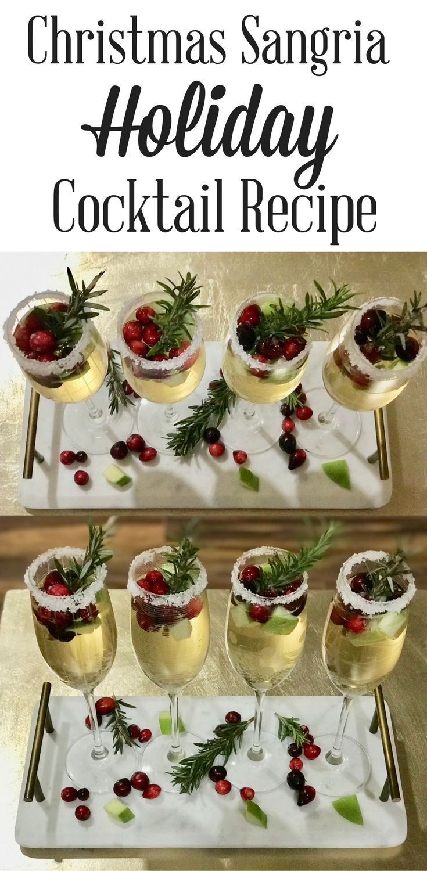 Christmas Sangria.Christmas Sangria Cocktail