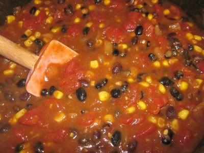 a small loss: Pumpkin black bean chili