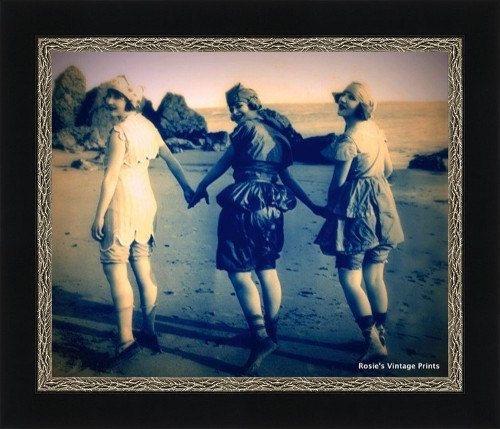 VINTAGE BATHING BEAUTIES Three Good Friends by RosiesVintagePrints, $18.00