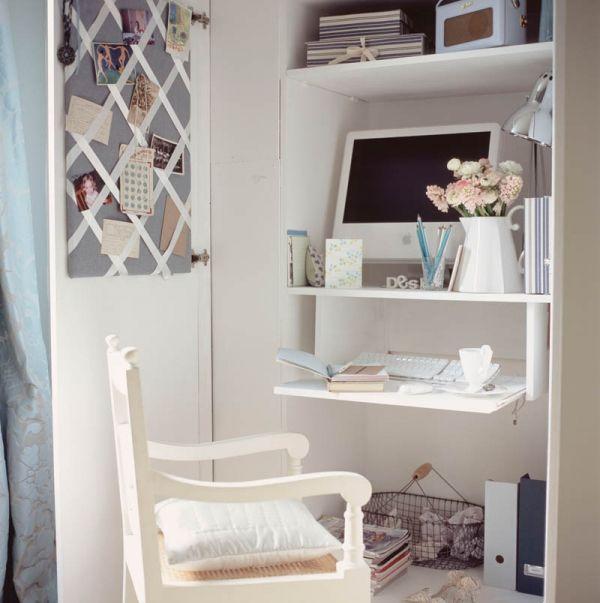 a cute home office idea | Cool Ideas | Pinterest | Small space ...