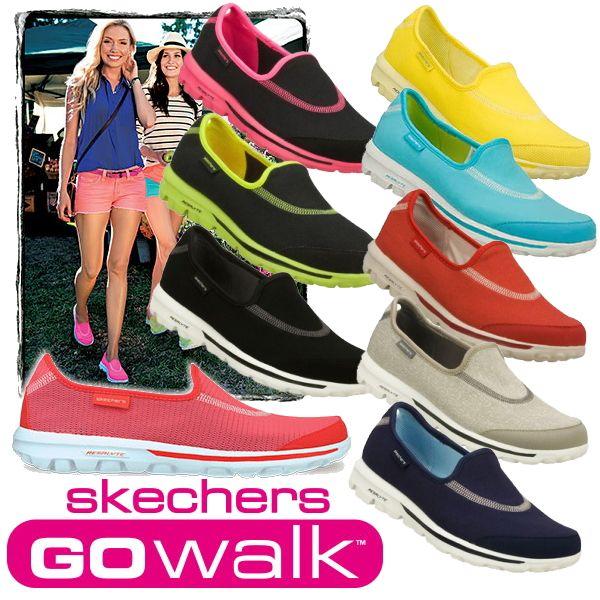 skechers slip on walking shoes