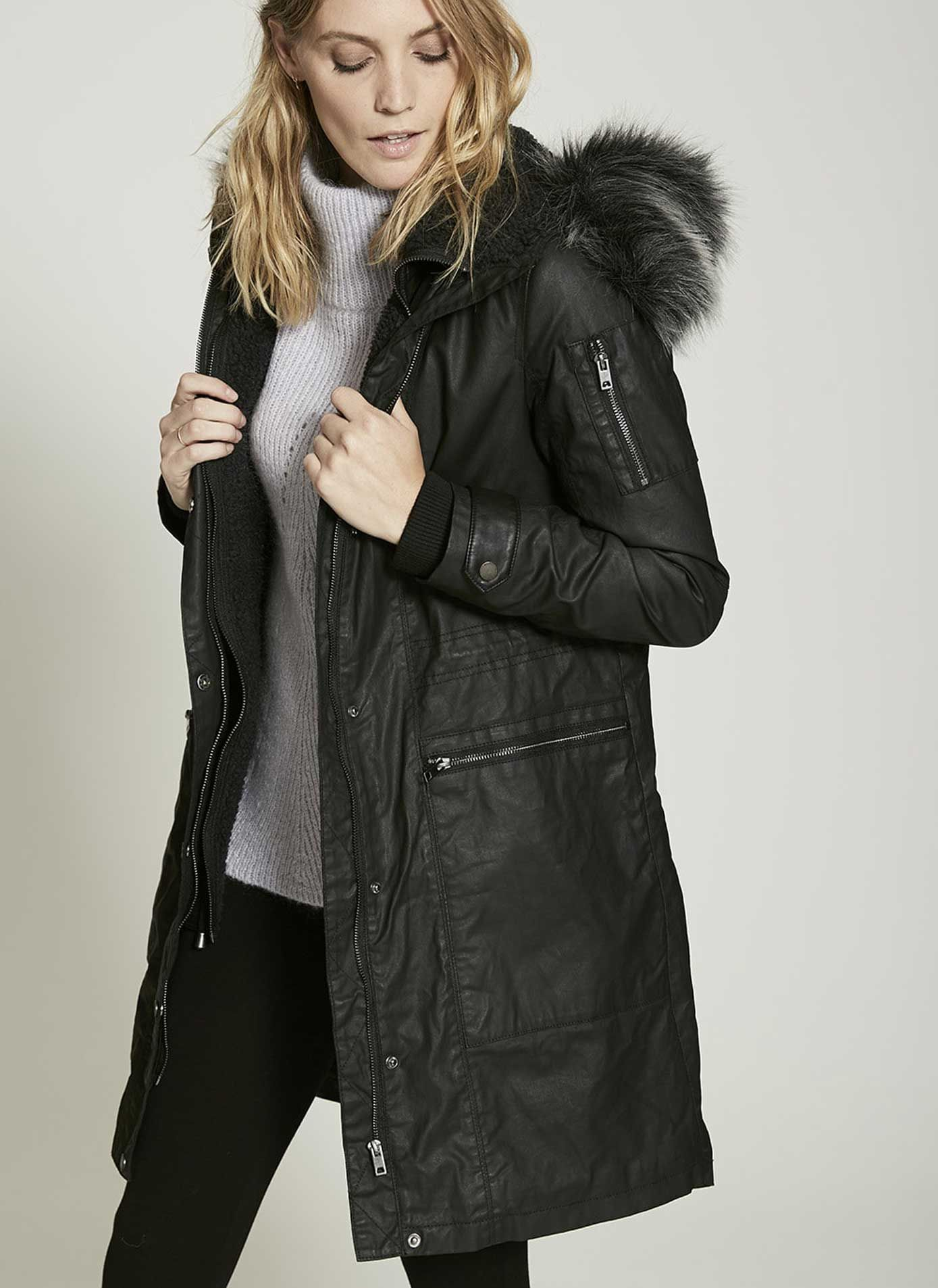Washed Black Waxed Parka | Parka, Wax and Parka coat