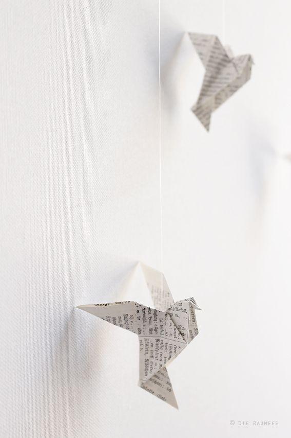 die raumfee: vogel-mobilé / bird mobilé | diy ideas and, Hause und Garten