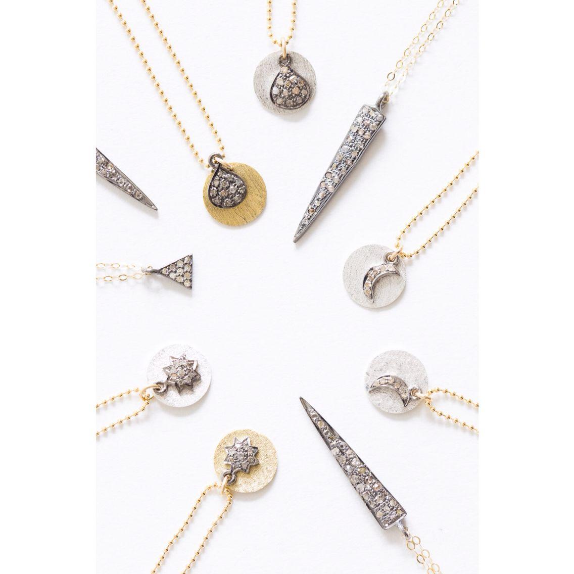 Pavé diamond dainties by Nashville jewelry designer, Brooke Worthington   photo by Alyssa Rosenheck