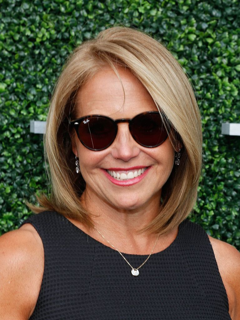Katie Couric B O Sported A Perfectly Styled Bob At The Usta Opening Night Gala