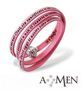 AMEN Bracelet - Our Father in Latin - Size S - Pink