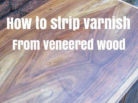 Varnish From Veneered Wood Furniture