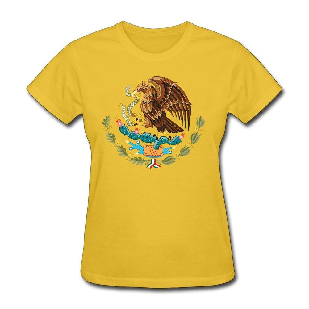 Mexico For Women Crew Neck Tee Shirts