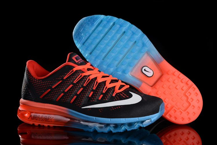 the latest 3861b c135b 2016-2017 Newest Trainers 806771-305 Nike Air Max 2016 Mens Core  Black University Red White Hyper Jade Blue