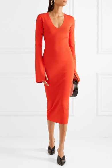 Raina Stretch-knit Midi Dress - Tomato red Solace London Ebay Online Big Sale Online Big Discount Cheap Online Free Shipping Clearance Store z6W8Ey
