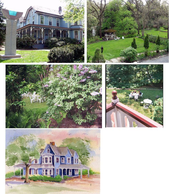 Wedgewood Inn and gardens, village of New Hope in Buck