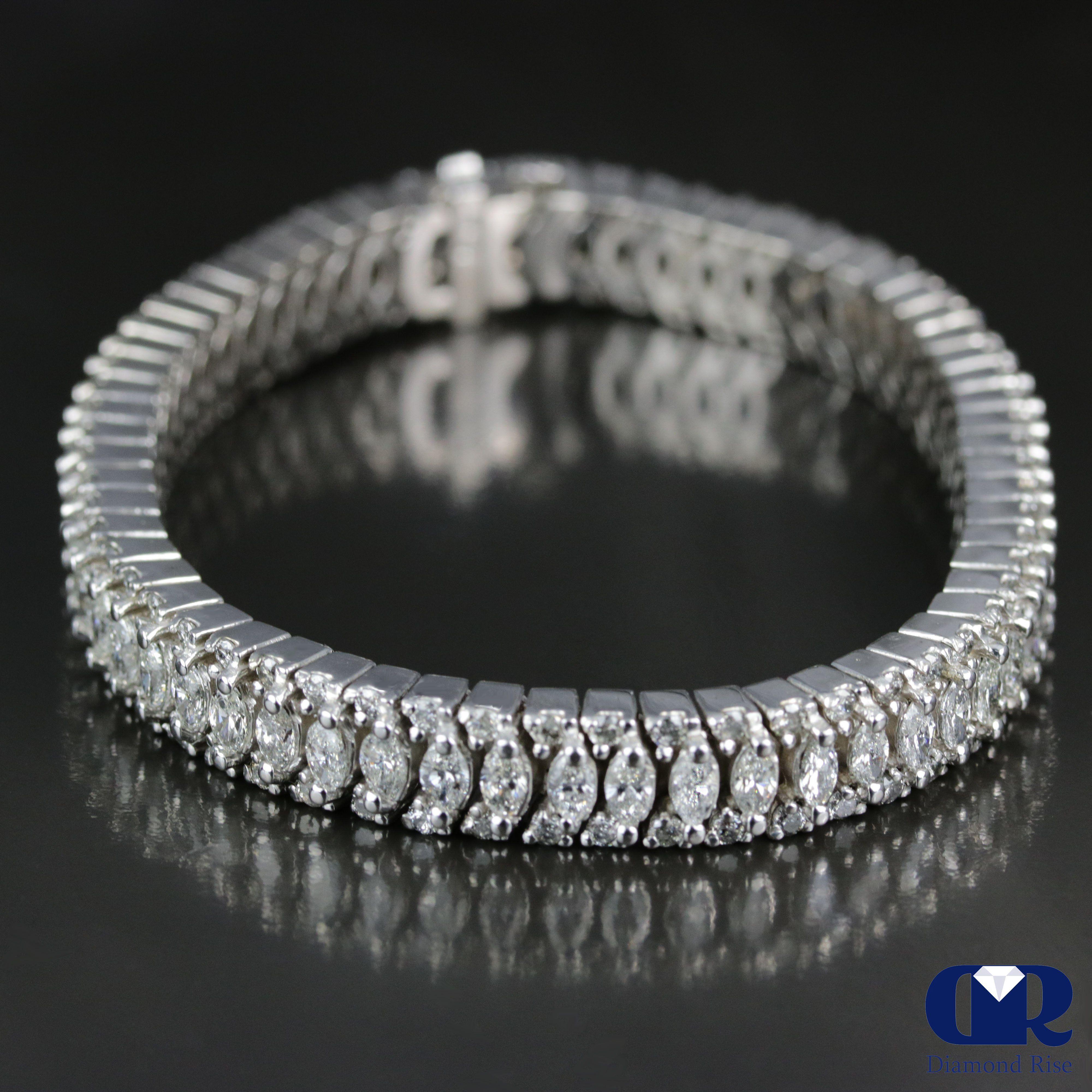 Women S Heavy 11 42 Carat Diamond Tennis Bracelet In 14k White Gold Diamondtennisbracelet Tennis Bracelet Diamond Diamond Bracelet Design Diamond Carat Size