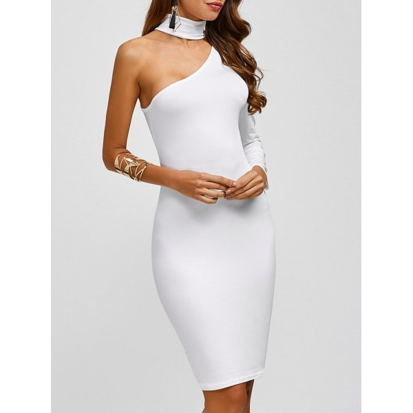 15.94$  Watch here - http://di6a7.justgood.pw/go.php?t=200162204 - Chocker One Sleeve Tight Dress 15.94$