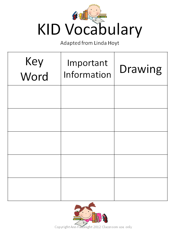 Printables Vocabulary Words For Kids 1000 images about vocabulary on pinterest fancy words journal and foldable