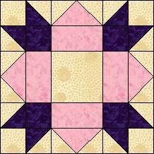 "Block of the Day for June 30, 2014 - Magnolia Flower Finished block: 6"" x 6""inches"