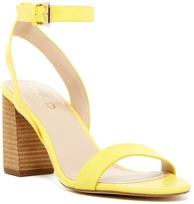 light yellow sandal perfect for a wedding guest aldo