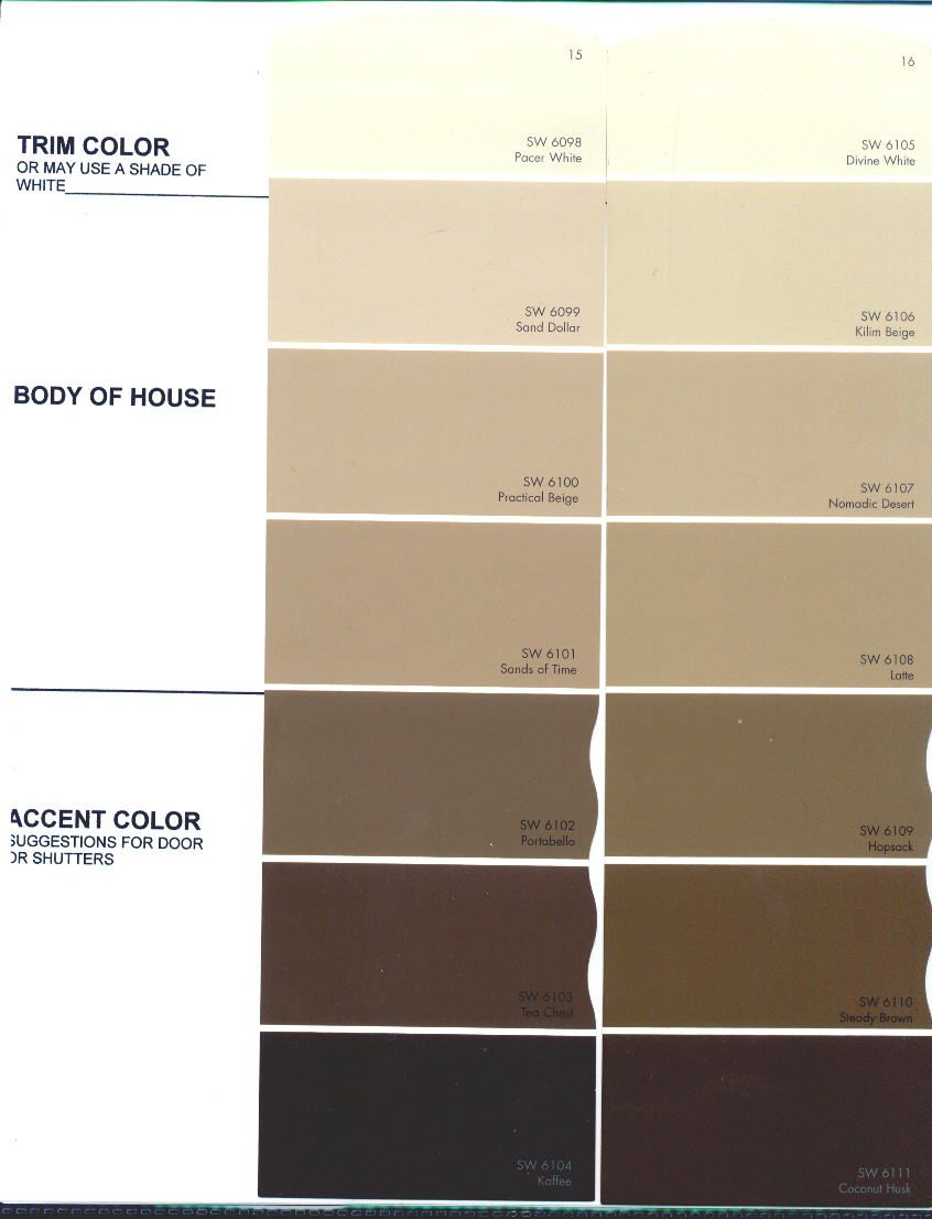 Beige color chart the preserve architectural review board color