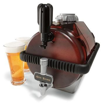 The Beer Machine - step up your bar with your own microbrewery!  Fits right in your fridge where the regular 6-pack used to go ; )