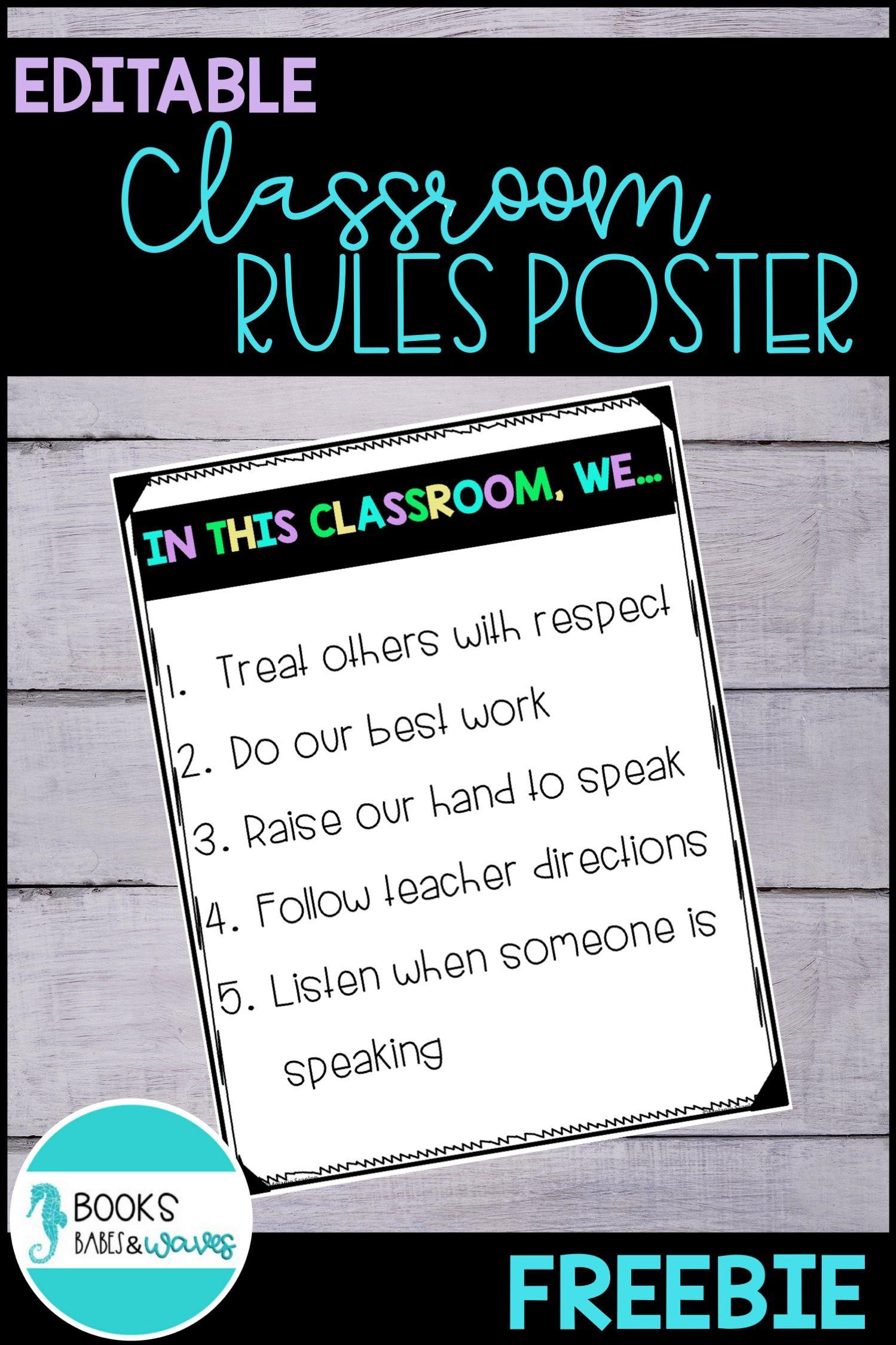 FREE Classroom Rules Posters | Teacher Board | Classroom