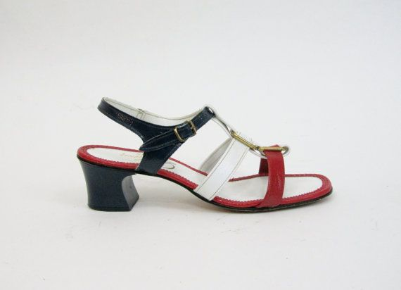 280e0309e91f9 1960s MOD Dress Shoes / Peep Toe Wedge Sandals in by 4birdsvintage ...