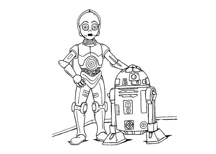 Star-Wars-robots-coloring-pages.jpg (700×500) | Children\'s Birthday ...