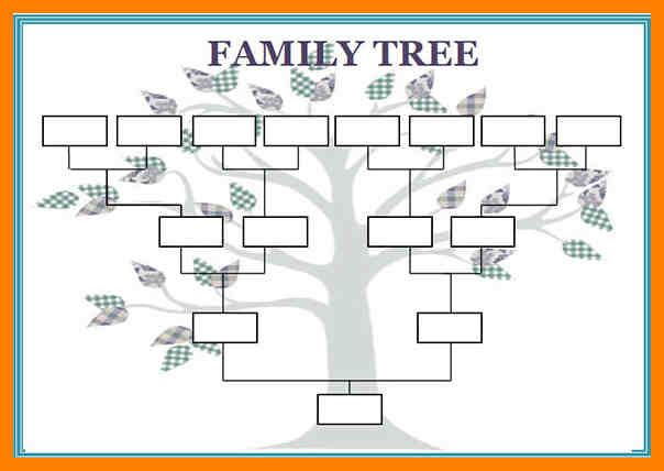 Blank Family Tree Template  Aplication Format  Genealogy