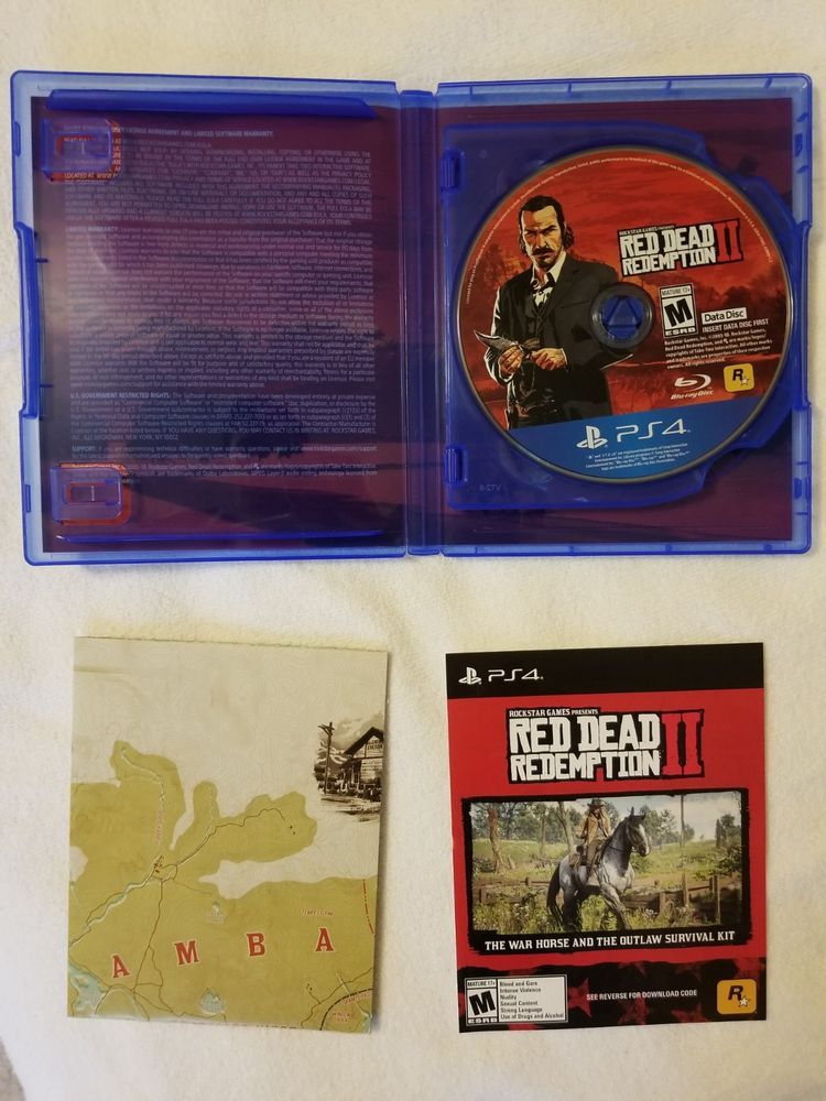 Red Dead Redemption 2 (PS4) (Includes War Horse Code) FAST