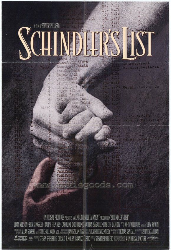 Schindler's list..Spielbergs masterpiece! Profoundly shocking, heartbreaking and accurate storytelling about the holocaust of the Polish Jew in 1939 through the end of the war. Steven Spielberg's devastating 1993 drama reveals the efforts of Oskar Schindler (Liam Neeson) to rescue Jewish people marked for death by Hitler's regime. A must see!