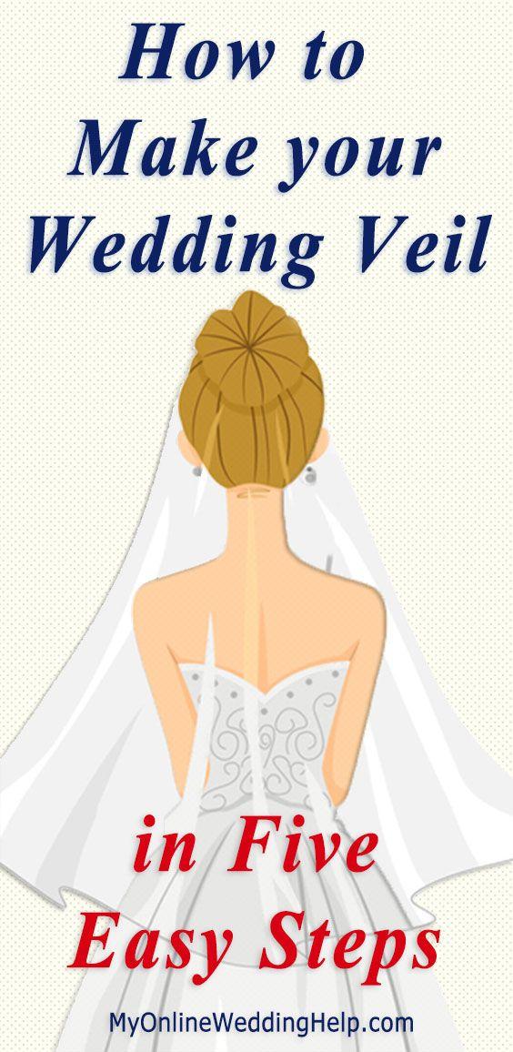 How To Make A Bridal Veil With A Comb How To Make A Simple Bridal Veil Diy Wedding Veil Veils Bridal Diy Veil Diy