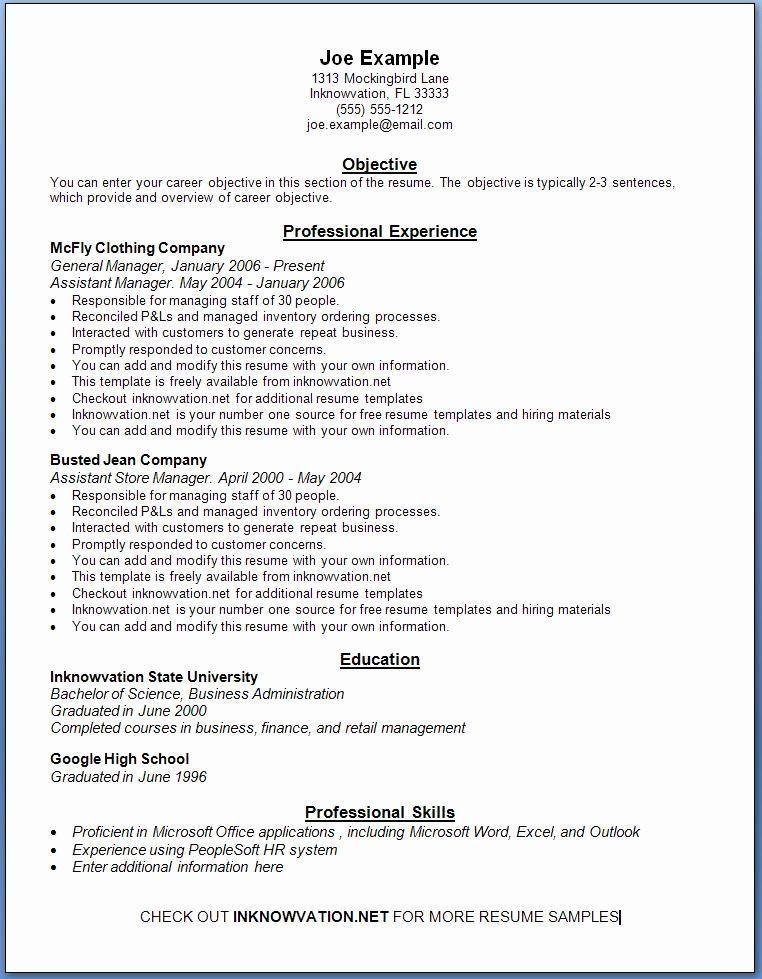 Great Resume Template For Wordpad Picture Di 2020 Dengan Gambar