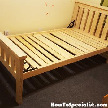 Diy 2x4 Bed Frame For Kids Howtospecialist How To Build Step By Step Diy Plans In 2020 Diy Bed Frame Diy Plans Wood Bed Frame Diy