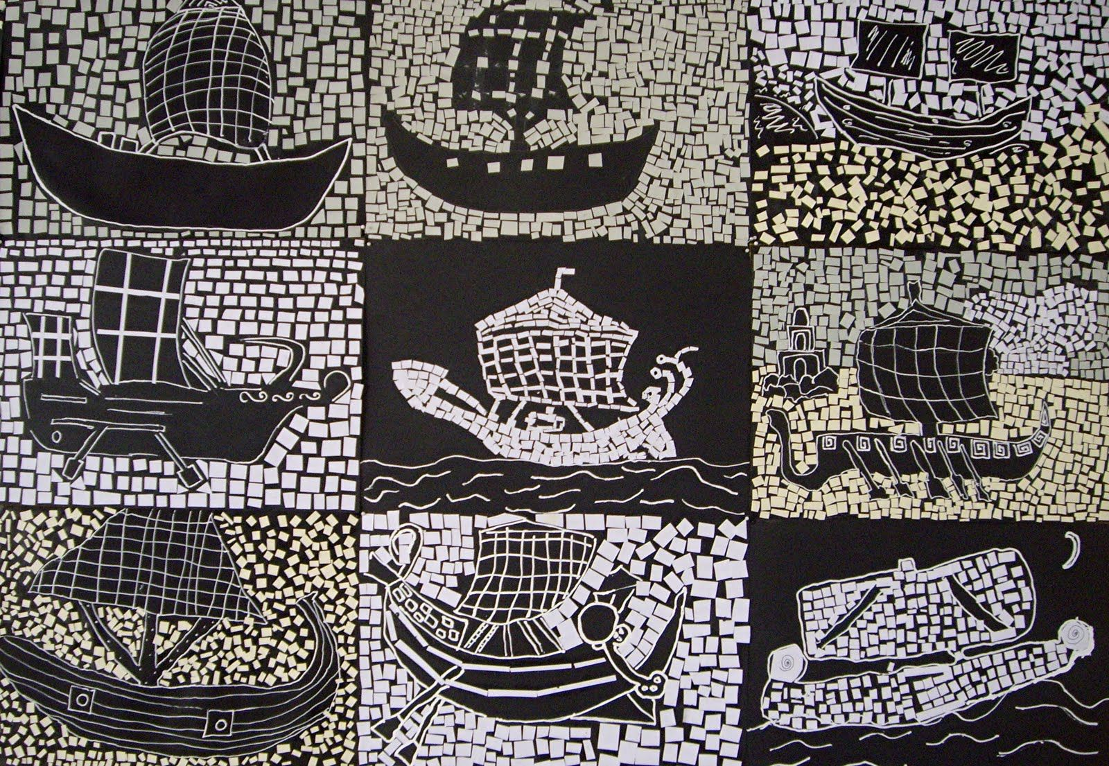 Inspiration Black And White Ship Mosaics From Ancient Rome These Grade 7s Were Studying The