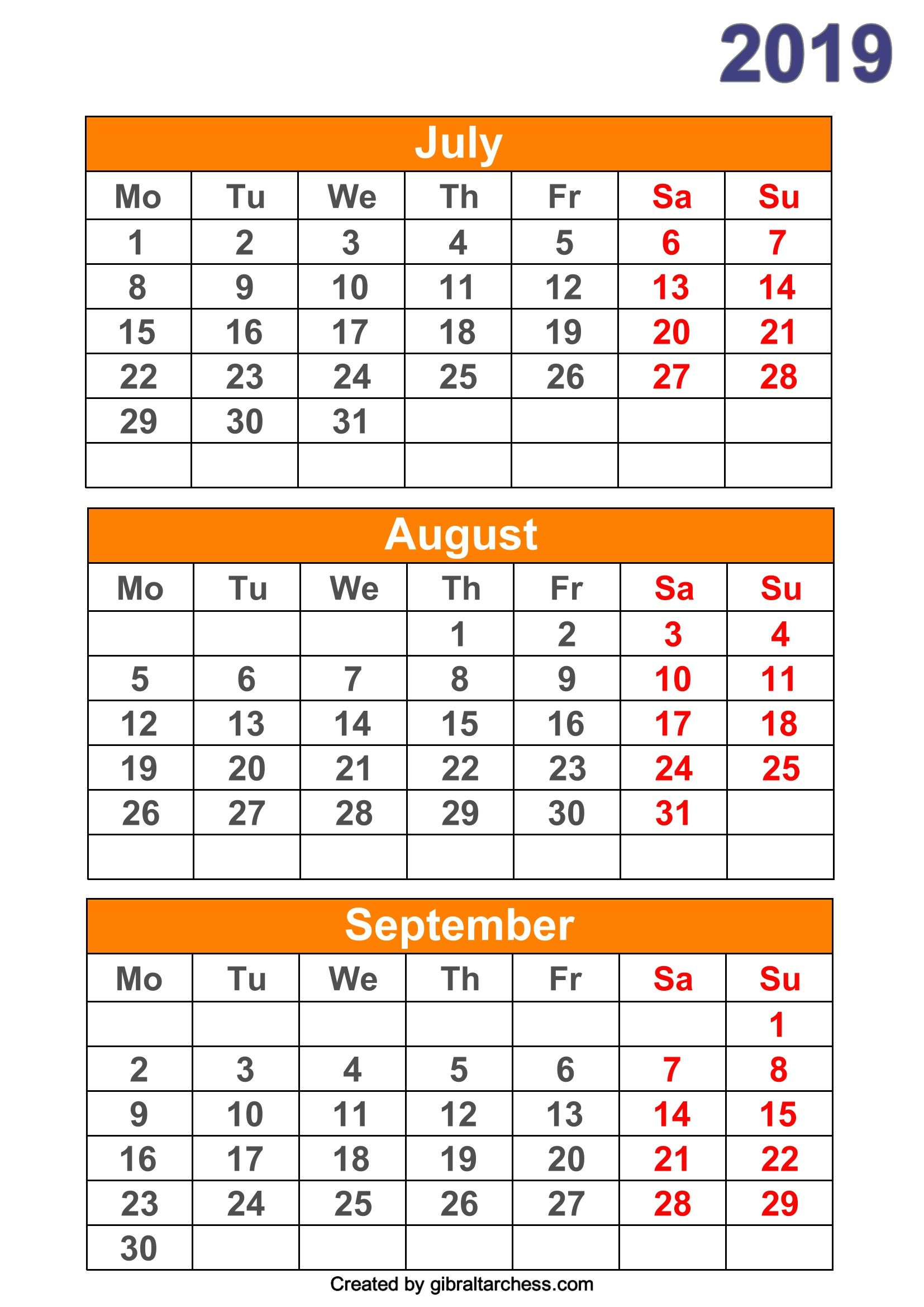 Pin On Monthly Calendar 2019