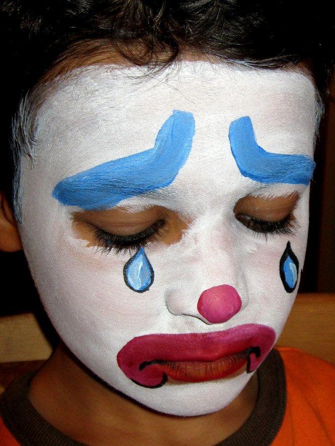 f94a71362 Awww sad clown :( | Face Painting | Clown faces, Sad, Halloween face