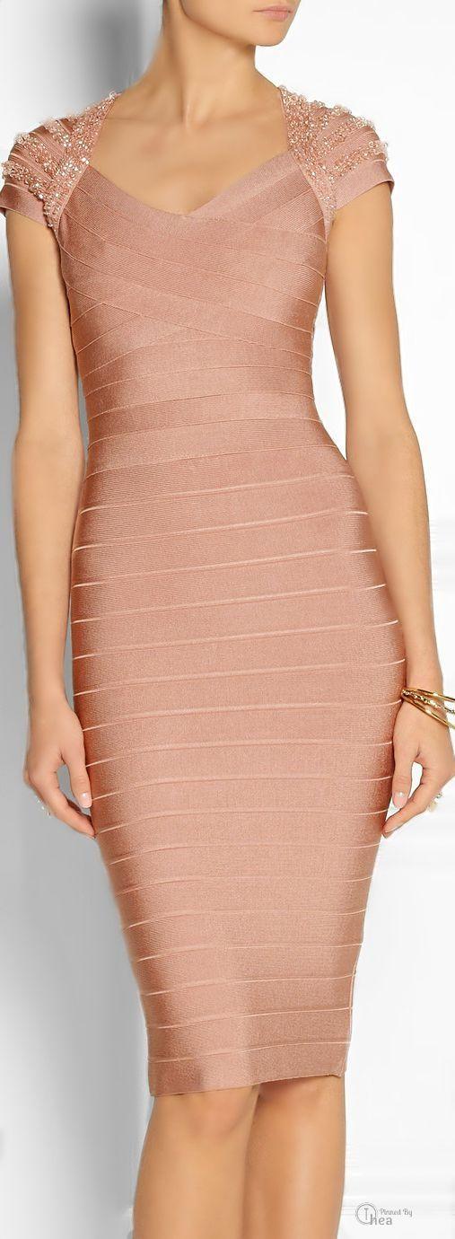 Herve Leger Beaded Bandage Dress Beautiful Dresses Short Dresses Fashion