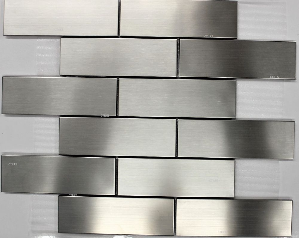 - Details About Sub Way Stainless Steel Subway Metal Mosaic Tiles