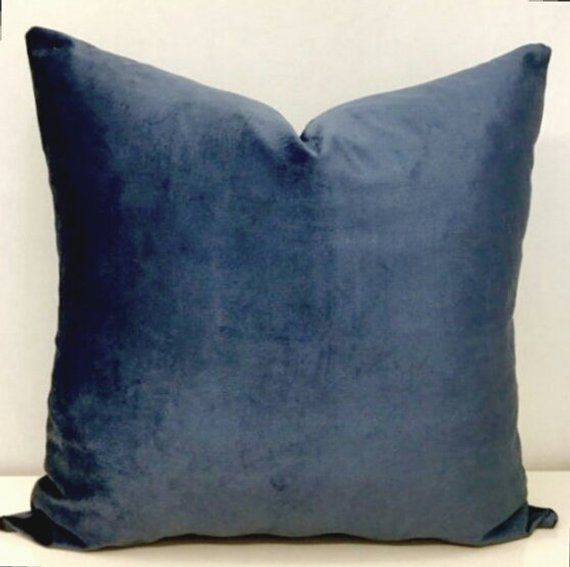 Sensational Luxury Smokey Blue Velvet Throw Pillow Blue Pillow Velvet Theyellowbook Wood Chair Design Ideas Theyellowbookinfo