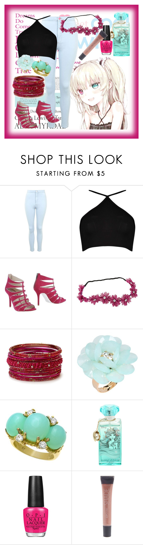 """Anime"" by deedee-pekarikhihiha ❤ liked on Polyvore featuring moda, Tiffany & Co., Topshop, Boohoo, MICHAEL Michael Kors, Forever 21, Dettagli, Disney, OPI y Lane Bryant"