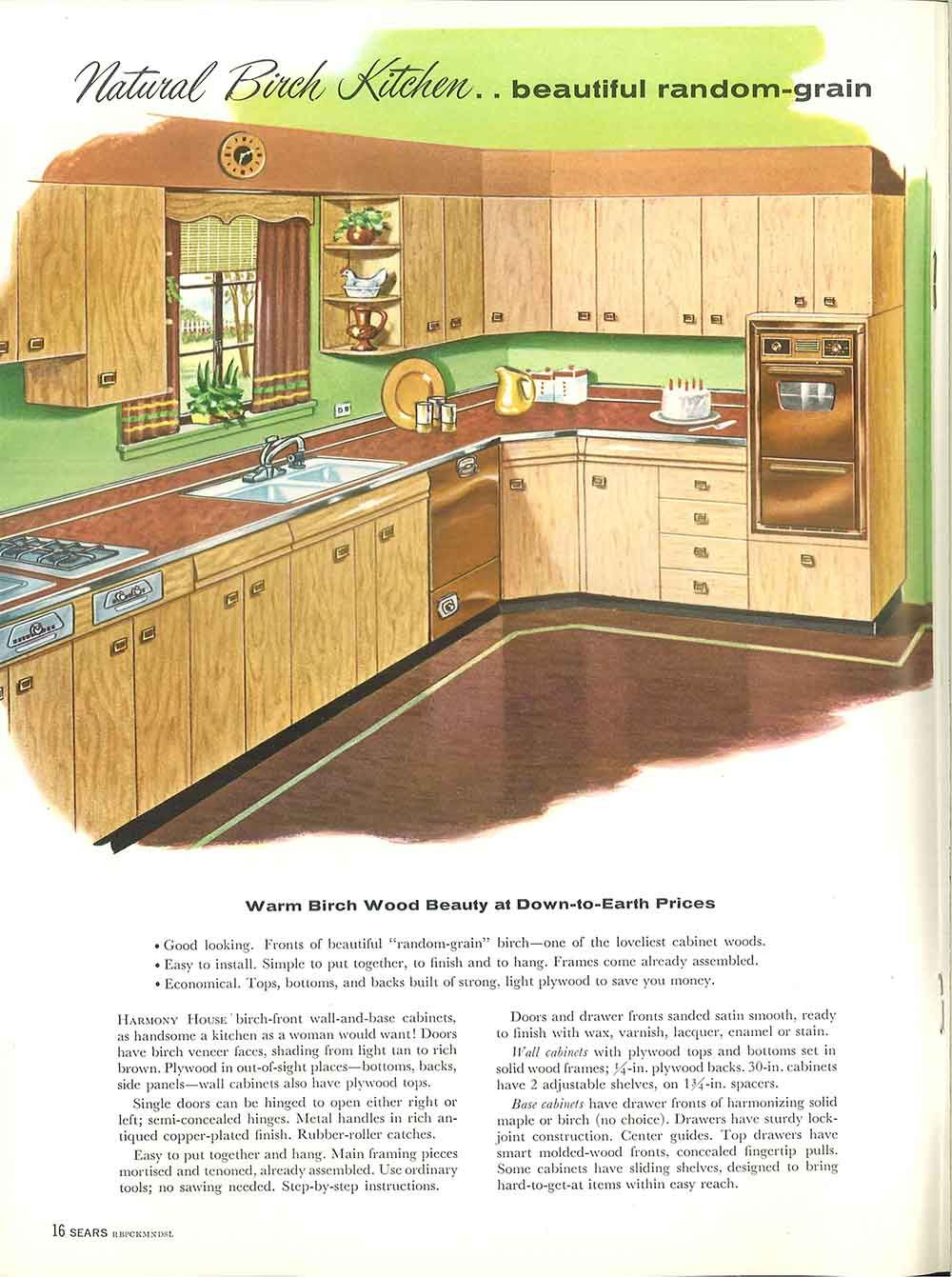 1958 Sears Kitchen Cabinets And More 32 Page Catalog Wood Cabinets Retro Appliances Home Improvement Catalog