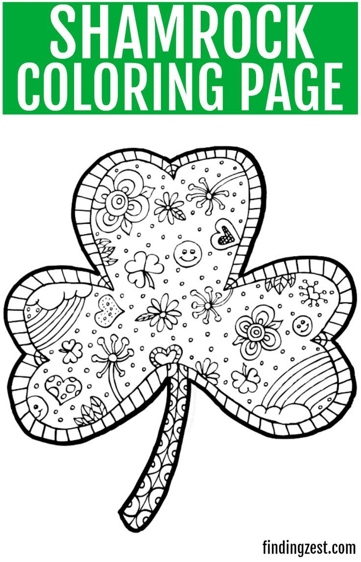 Print out this fun shamrock coloring page free printable ...