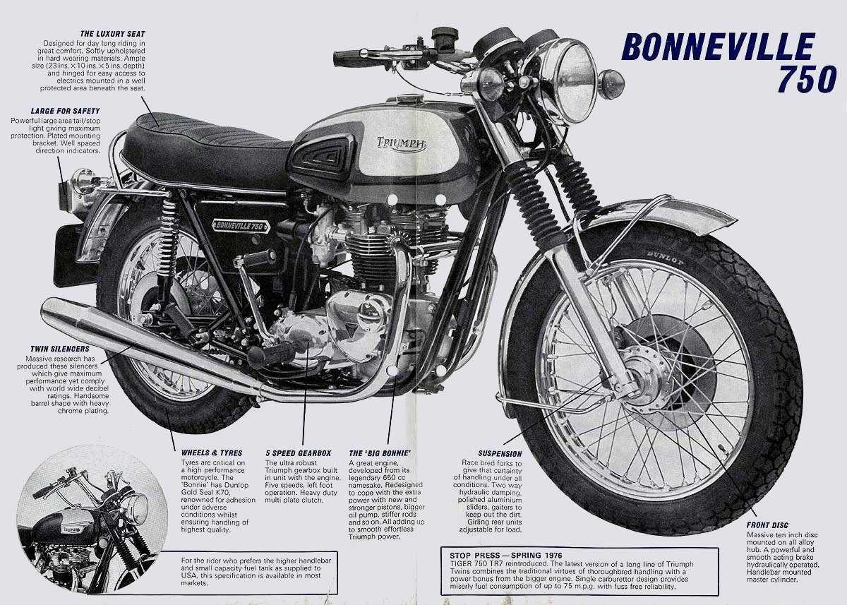 Triumph Bonneville Unit 1963 1988 Motociclette Triumph Triumph Bobber Moto Triumph [ 857 x 1200 Pixel ]